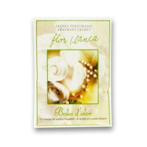 Mini sachet flor blanca
