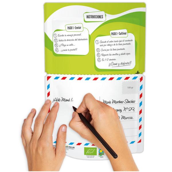 Postal verde Pensando en ti