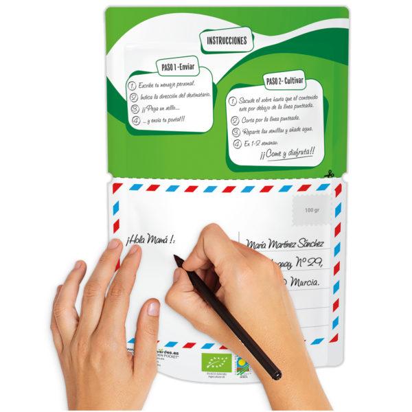 Postal verde personalizable