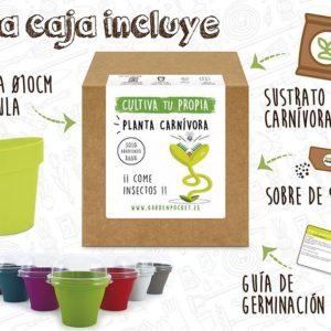 Kit cultivo planta carnívora venus atrapamoscas Pocket Garden instrucciones