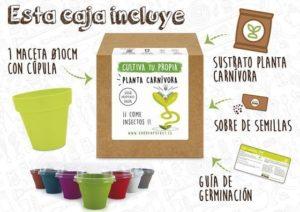 Kit cultivo planta carnívora venus atrapamoscasPocket Garden instrucciones