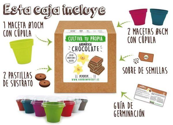 Kit cultivo chocolate Pocket Garden instrucciones