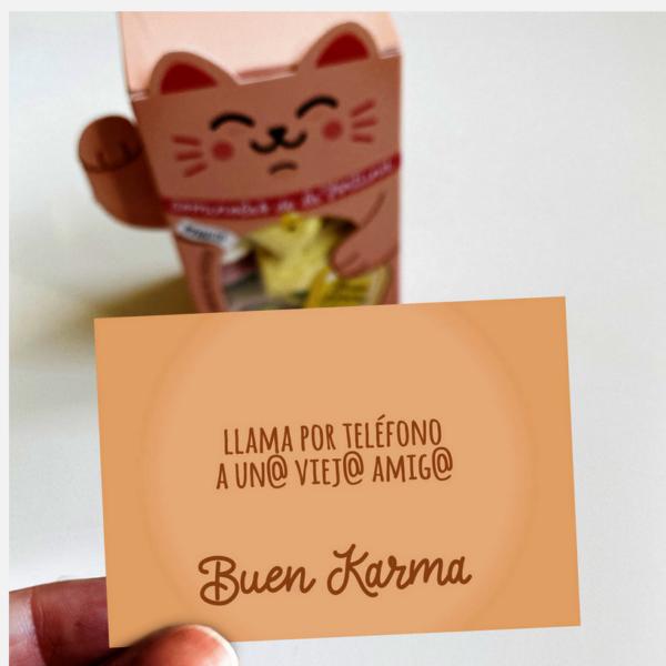 "Maneki Neko de gominolas de la fortuna ""Buen Karma"" Designer Souvenirs"