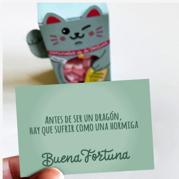 "Maneki Neko de gominolas de la fortuna ""Buena Fortuna"" Designer Souvenirs"